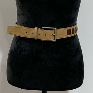 Coach suede & weaved leather belt 40 inches